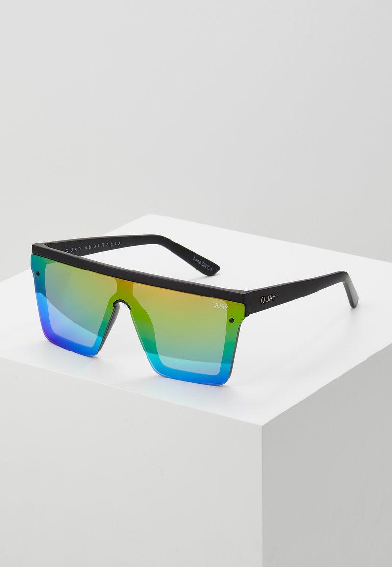 QUAY AUSTRALIA - HINDSIGHT - Sluneční brýle - matte black/rainbow