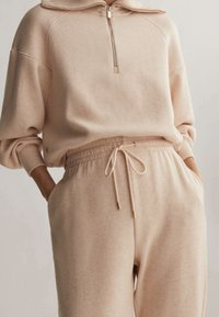 OYSHO_SPORT - Pantalon de survêtement - mottled beige - 4