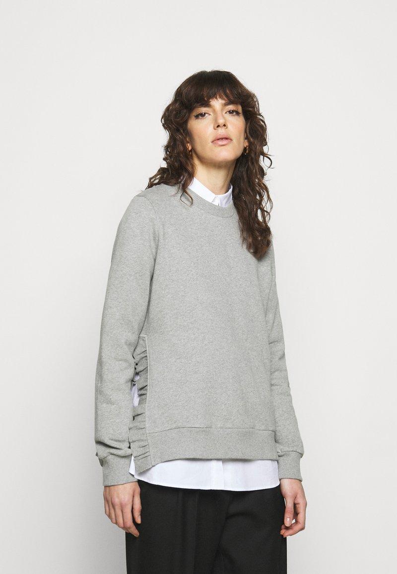 Bruuns Bazaar - RUBINE - Sweatshirt - light grey melange