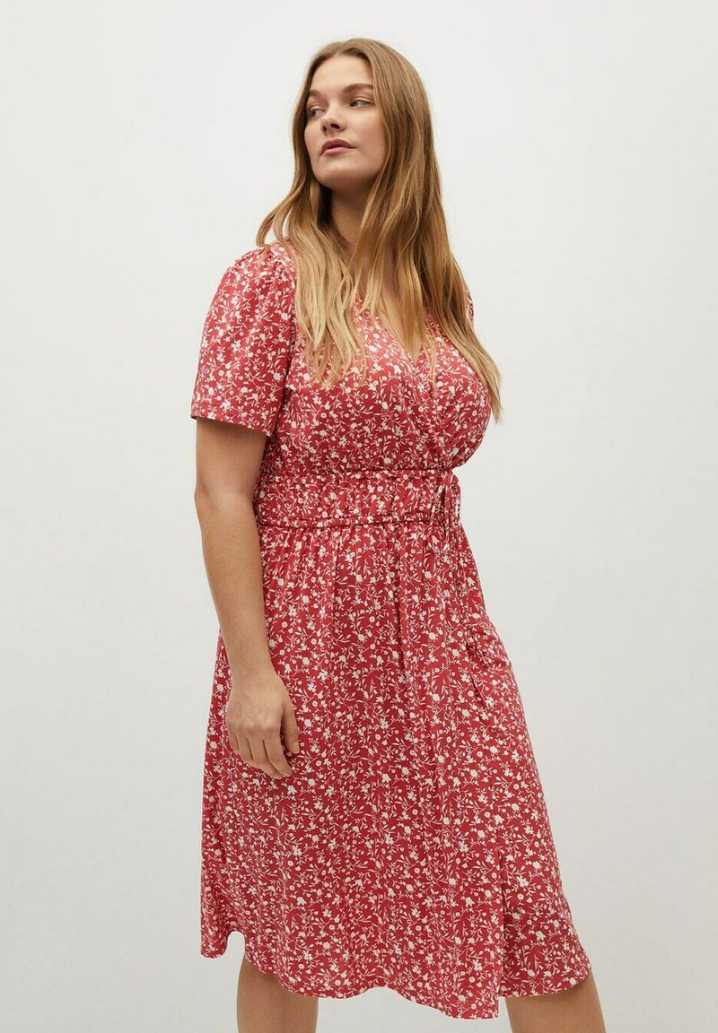 Violeta by Mango - CROSS - Korte jurk - geranienrosa