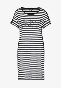 Monari - GESTREIFT - Day dress - black, white - 1