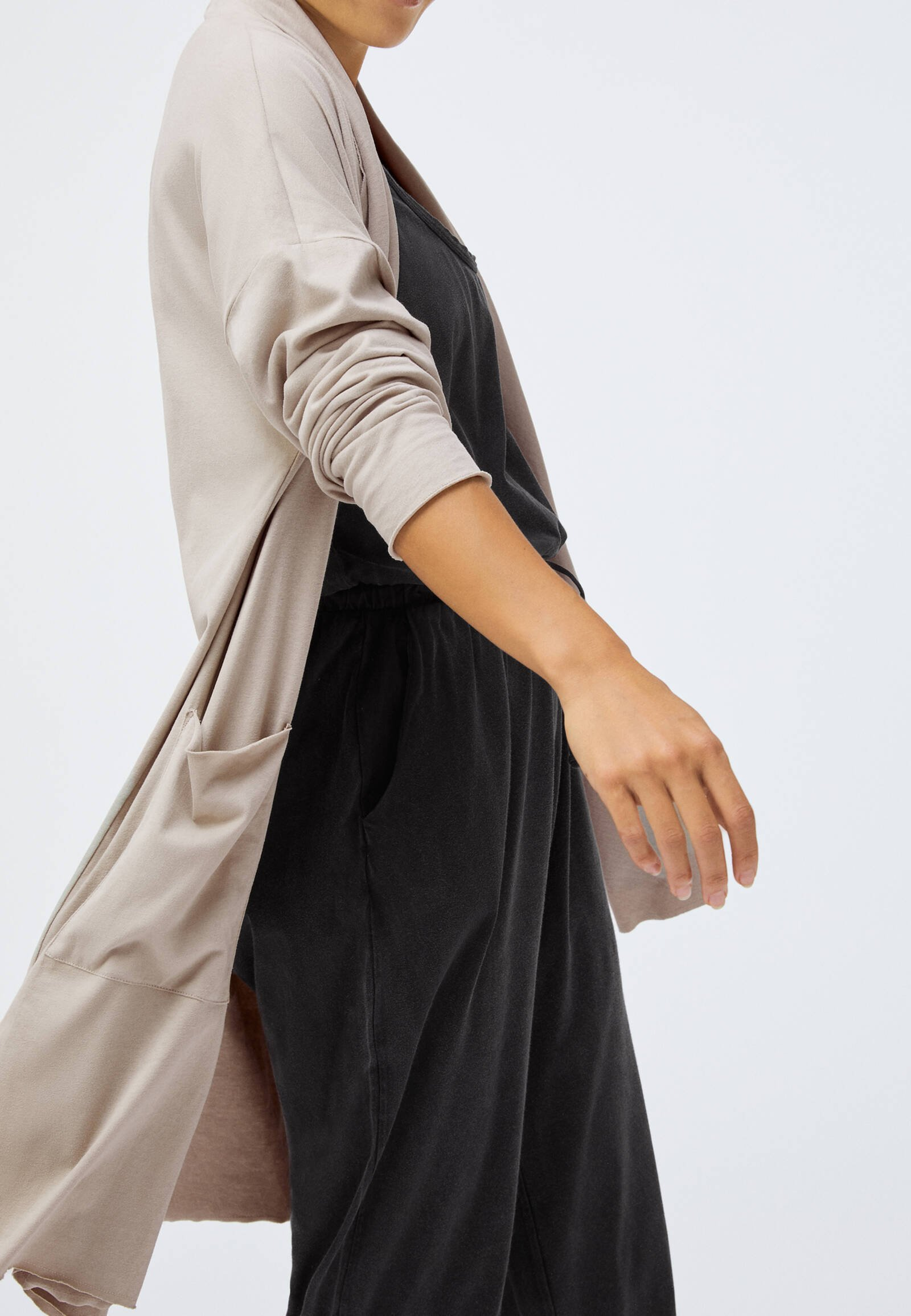 OYSHO_SPORT Vest - beige - Dames jas Opruiming