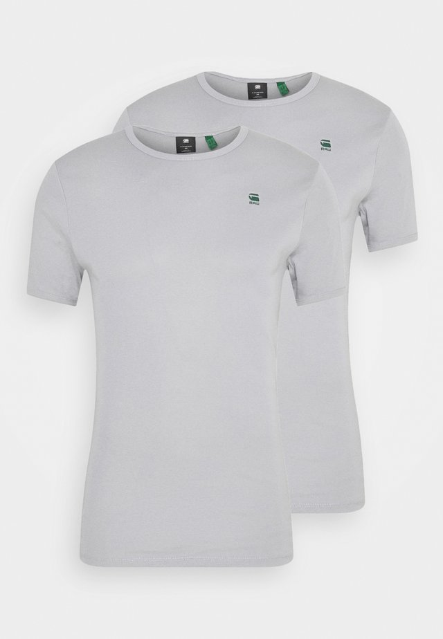 BASE 2 PACK - Basic T-shirt - steel grey