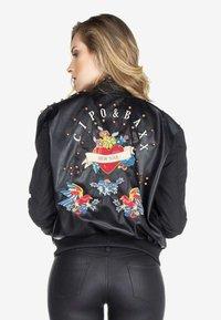 Cipo & Baxx - Faux leather jacket - black - 2
