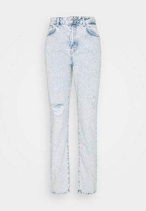 NMISABEL MOM - Jeans a sigaretta - light blue denim