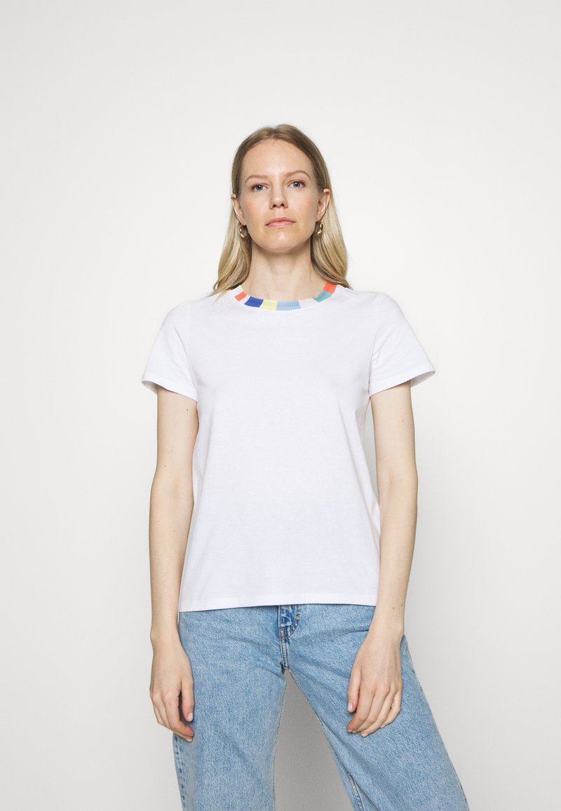 edc by Esprit - BLOCK - Print T-shirt - white
