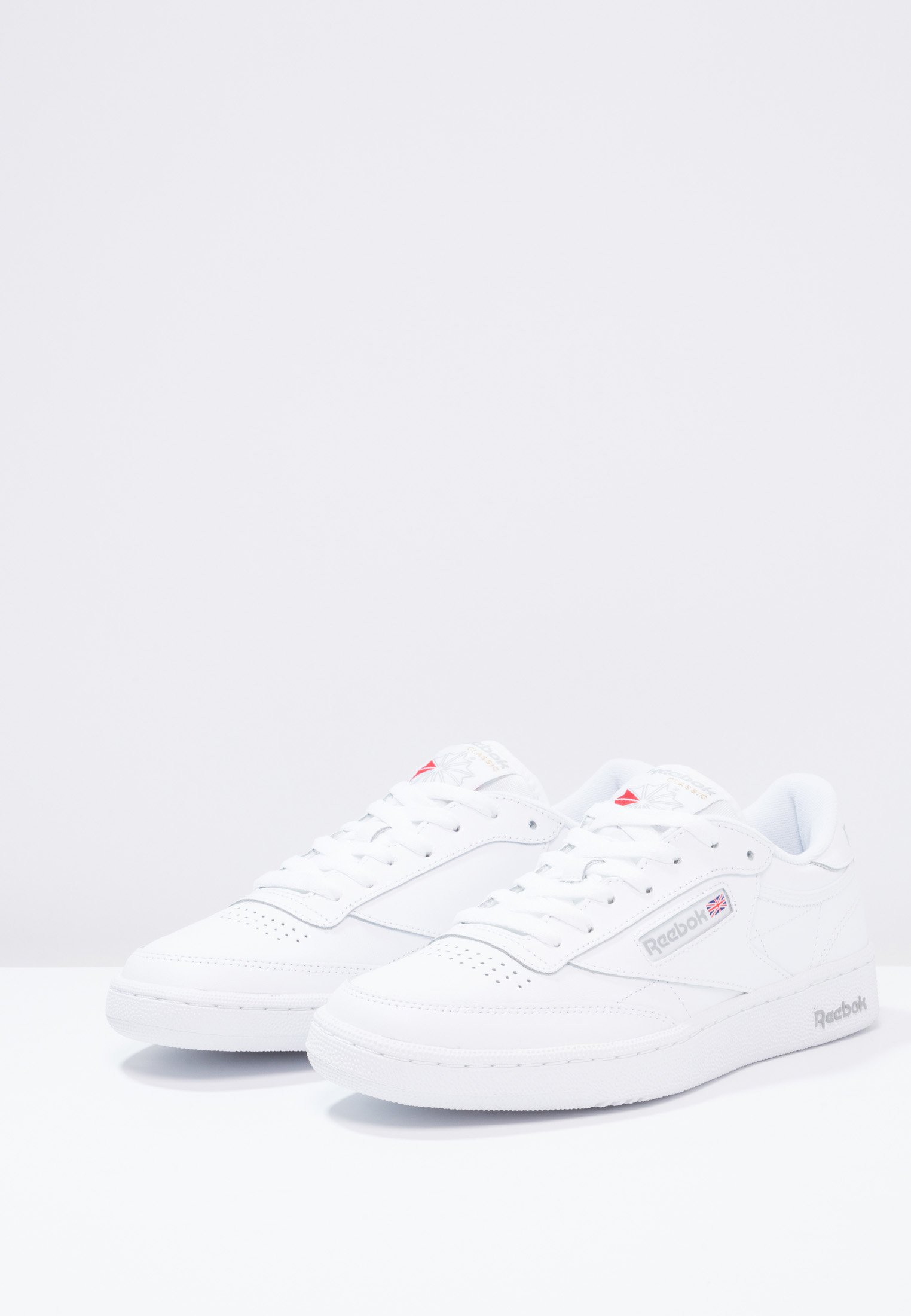 Reebok Classic CLUB C 85 LEATHER UPPER SHOES Sneaker low white/sheer grey/weiß
