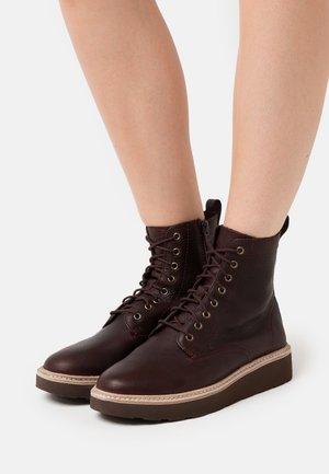TRACE PINE - Platform ankle boots - burgundy