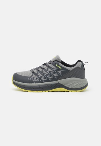 TRAIL DESTROYER - Hiking shoes - charcoal/black/limoncello