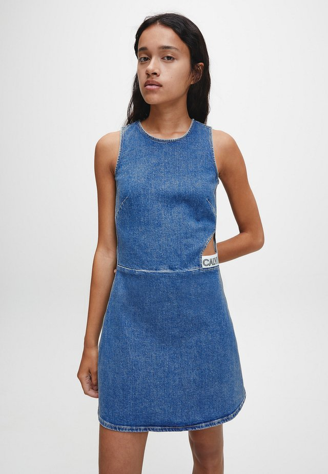 CUT OUT  - Day dress - icn mid blue elastic