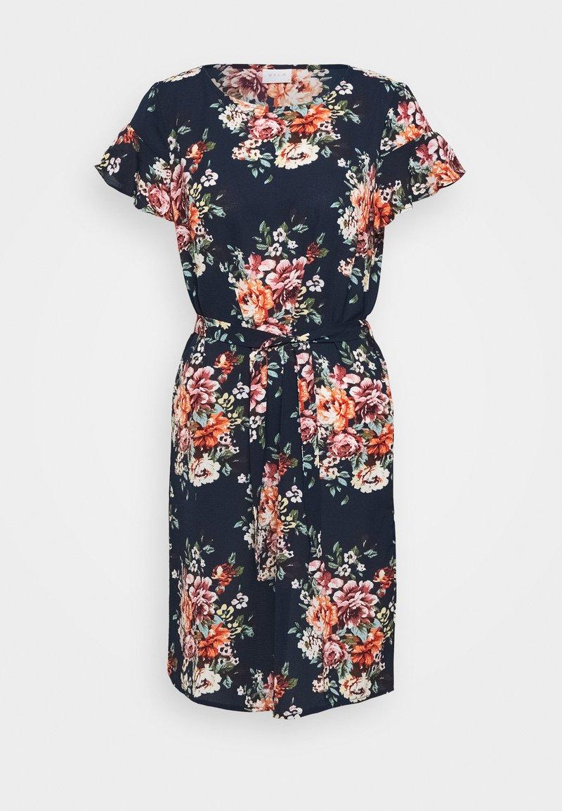Vila - VIDIANA LUCY FLOUNCE DRESS - Kjole - navy