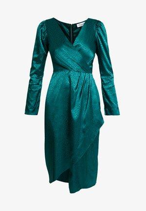 DRAPE SKIRT WRAP DRESS - Vestido informal - green