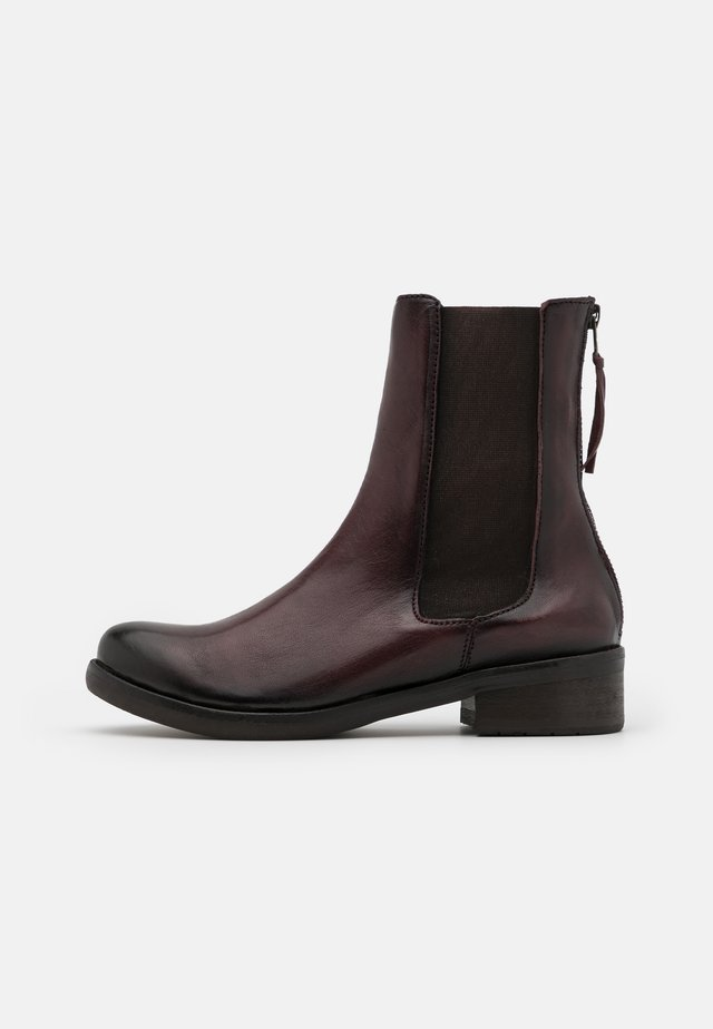 Classic ankle boots - old iron burdeos