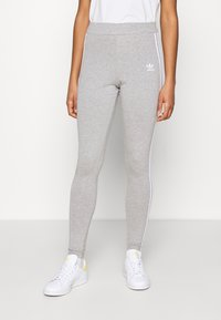 adidas Originals - THREE STRIPES TIGHT - Leggings - Trousers - medium grey heather - 0
