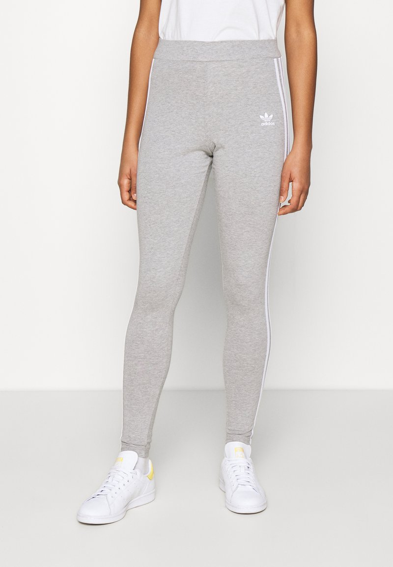 adidas Originals - THREE STRIPES TIGHT - Leggings - Trousers - medium grey heather
