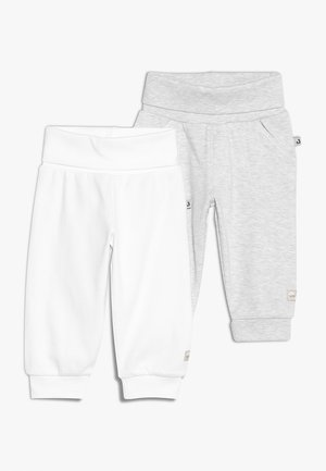 2 PACK - Trousers - off white/grey