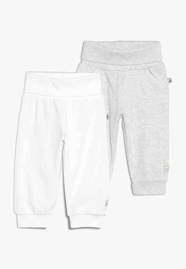 2 PACK - Tygbyxor - off white/grey