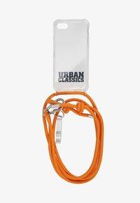 PHONE NECKLACE WITH ADDITIONALS / I PHONE 6/7/8 - Étui à portable - transparent/ orange