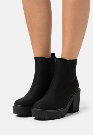 BLITZ CHELSEA UNIT BOOT - Bottines à plateau - black