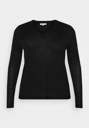 CARMAGGIE V NECK - Pullover - black