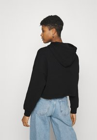 Even&Odd - Cropped Oversized Printed Hoodie - Jersey con capucha - black - 2