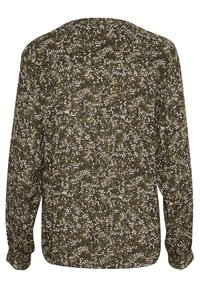 Kaffe - Blouse - black w.green/sand dot flower - 5