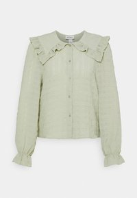 Monki - NAIMA BLOUSE - Button-down blouse - green dusty light - 3