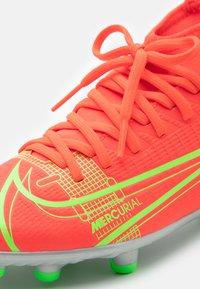 Nike Performance - MERCURIAL 8 CLUB MG UNISEX - Moulded stud football boots - bright crimson/metallic silver - 5