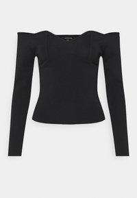 Who What Wear - OFF THE SHOULDER - Jersey de punto - black - 0