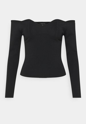 OFF THE SHOULDER - Strickpullover - black