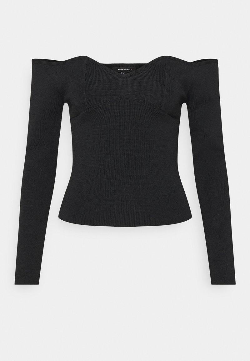 Who What Wear - OFF THE SHOULDER - Jersey de punto - black