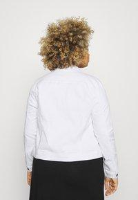 ONLY Carmakoma - CARWESPA LIFE JACKET - Denim jacket - white - 2
