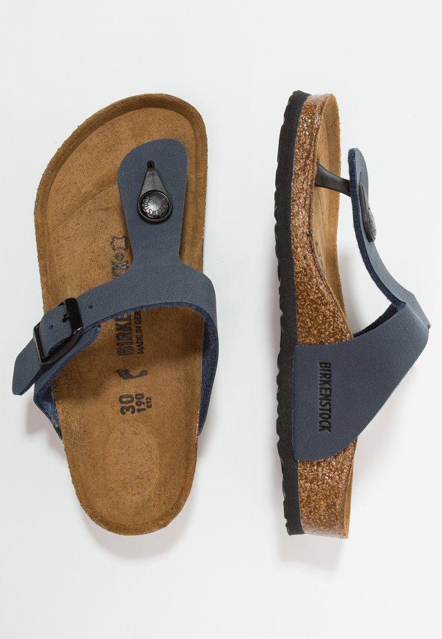 GIZEH - Sandály s odděleným palcem - navy