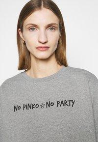 Pinko - ALGEBRA MAGLIA - Sweatshirt - grey - 4
