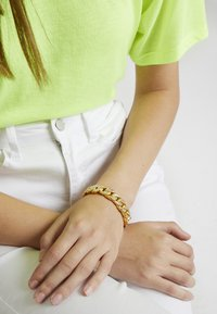 Urban Classics - BIG BRACELET WITH STONES - Armband - gold-coloured - 3