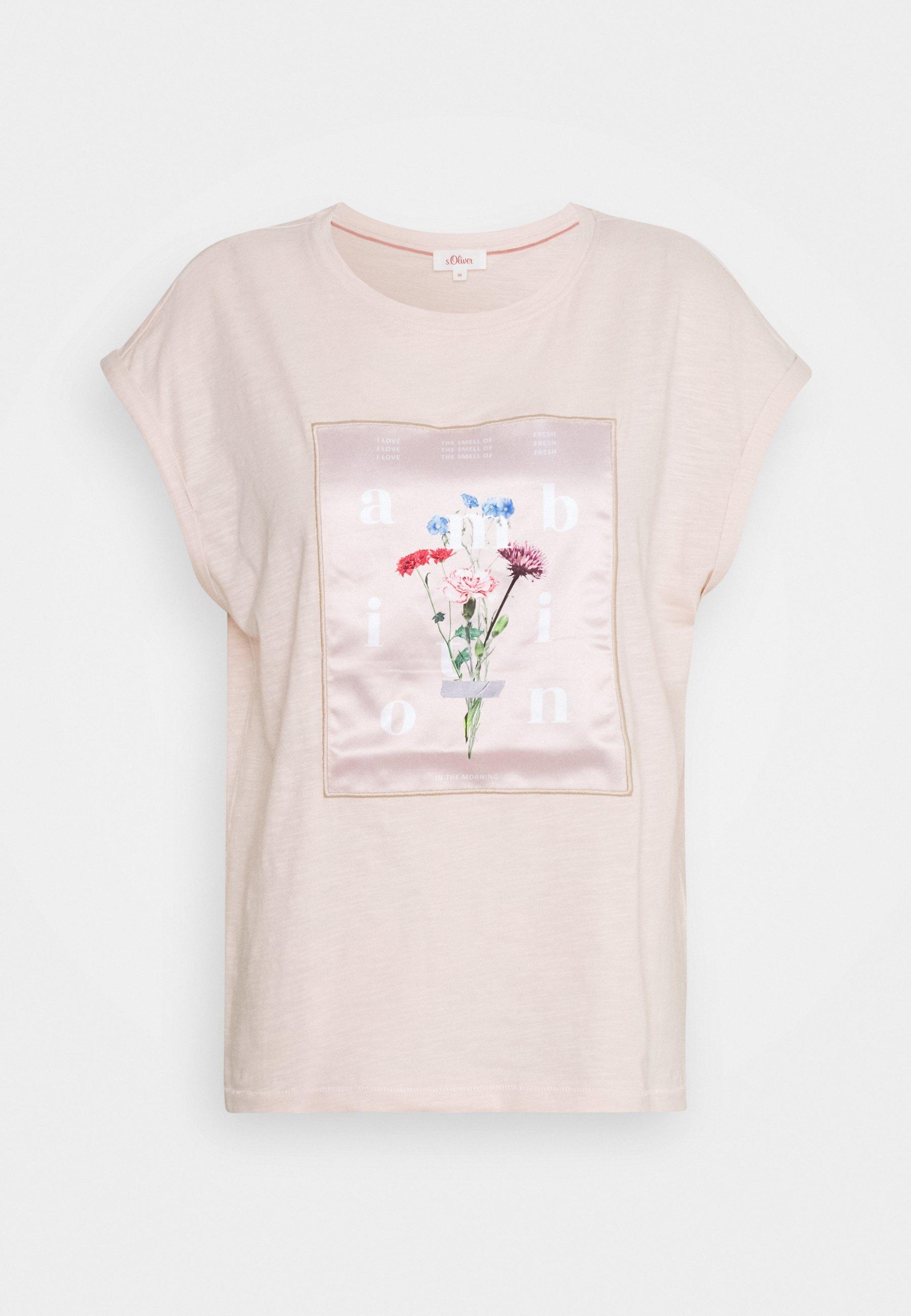 Women Print T-shirt - light blush