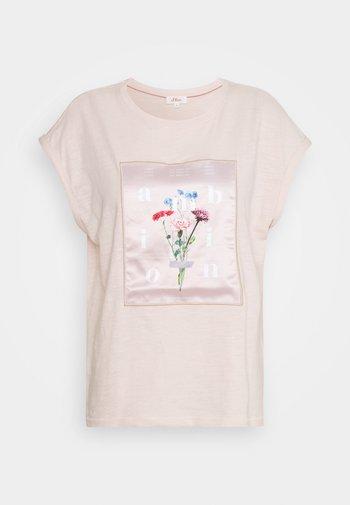 Print T-shirt - light blush