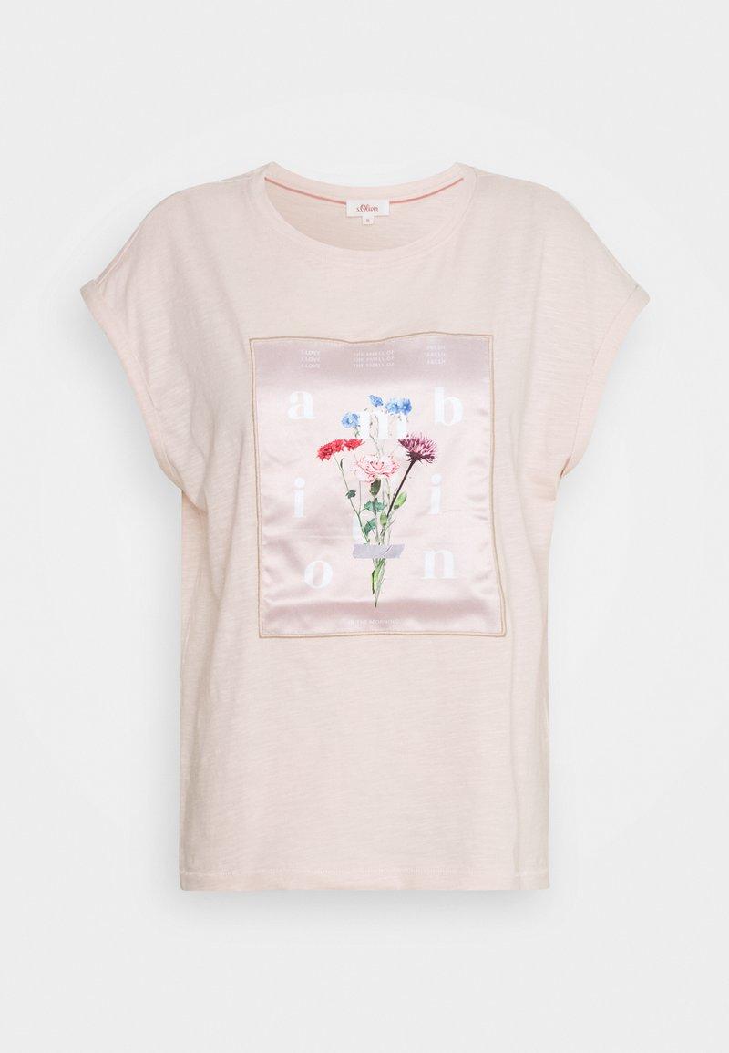 s.Oliver - Print T-shirt - light blush