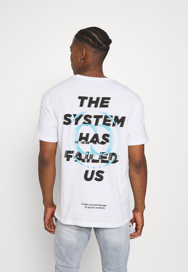 SYSTEM TEE - T-shirt con stampa - white