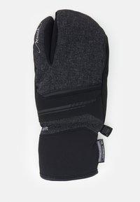 Reusch - TOMKE STORMBLOXX™ LOBSTER - Mittens - black/black melange - 1