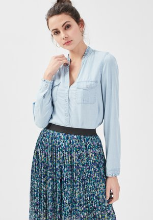 Button-down blouse - denim stone