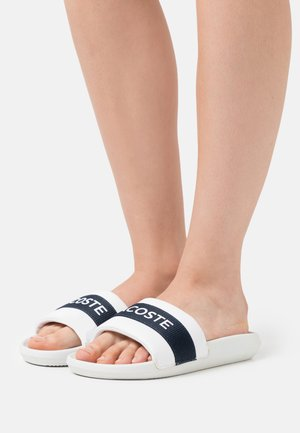 CROCO SLIDE  - Pantofle - white/navy