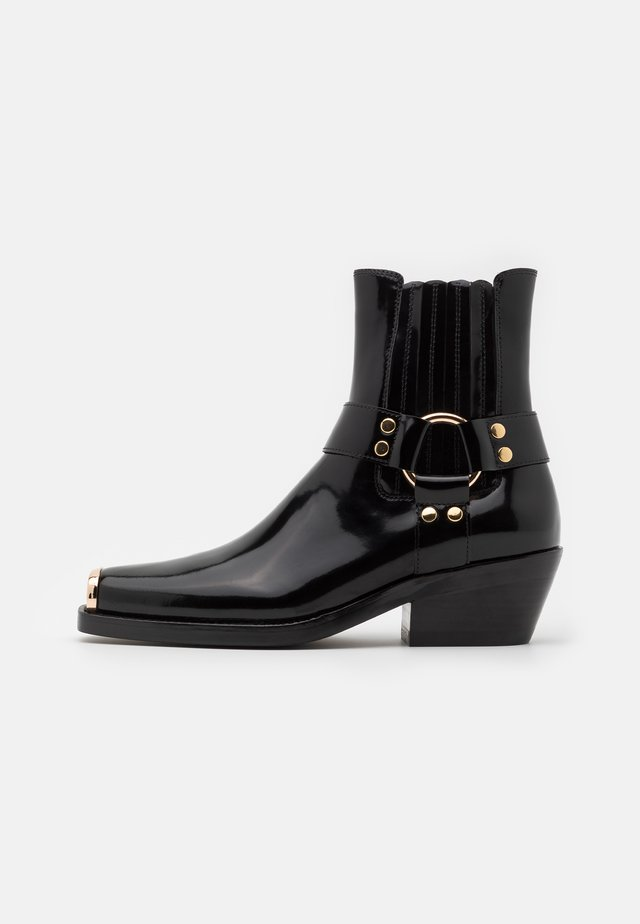 POKER - Classic ankle boots - black/gold