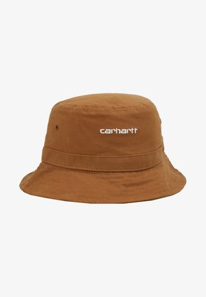 SCRIPT BUCKET HAT UNISEX - Klobouk - hamilton brown/white