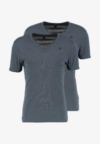 G-Star - BASE V T S/S SLIM FIT 2 PACK - T-shirts basic - dark slate - 3