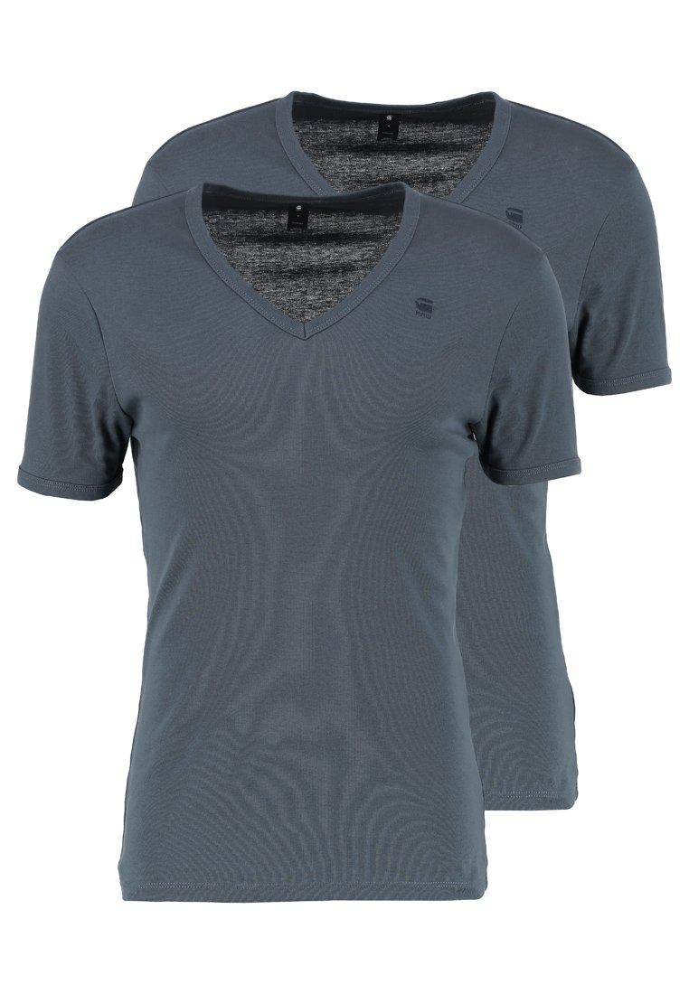 Men BASE 2 PACK - Basic T-shirt - dark slate
