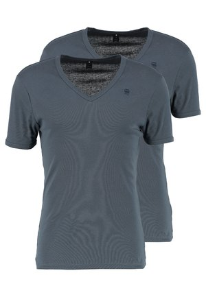 BASE V T 2 PACK - T-shirt - bas - dark slate