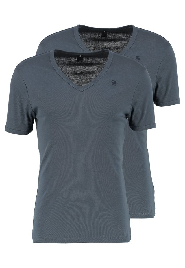 BASE V T 2 PACK - Basic T-shirt - dark slate