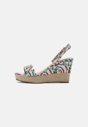 VALAPA CARIOCA - Platform sandals - blanc/multi