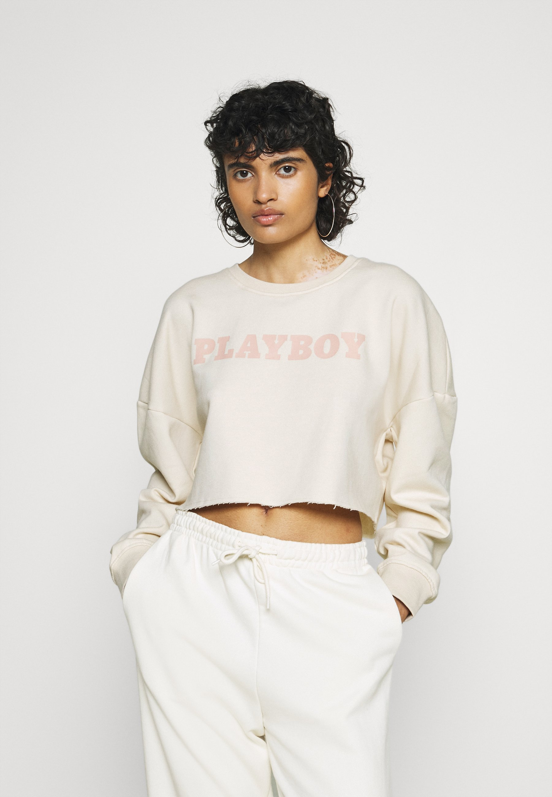 Women PLAYBOY LOGO CROP - Sweatshirt